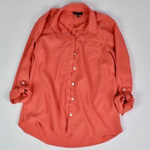 (FOXCROFT) Shaped Fit Sunset Button Down